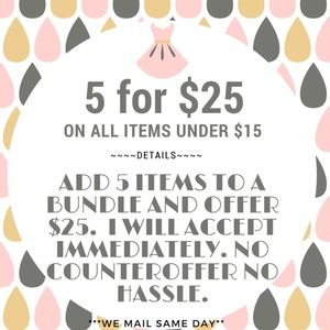 Other - ***5 for $25 Sale***